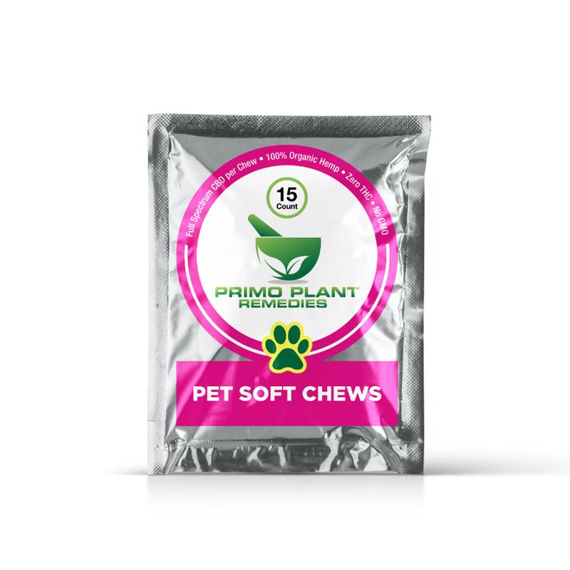 Primo Plant Remedies - CBD Pet Soft Chews - 15 count